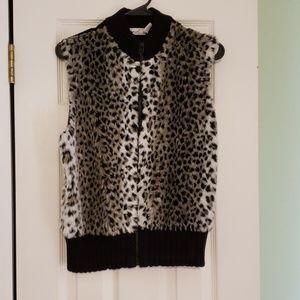Animal Print Fuzzy Vest